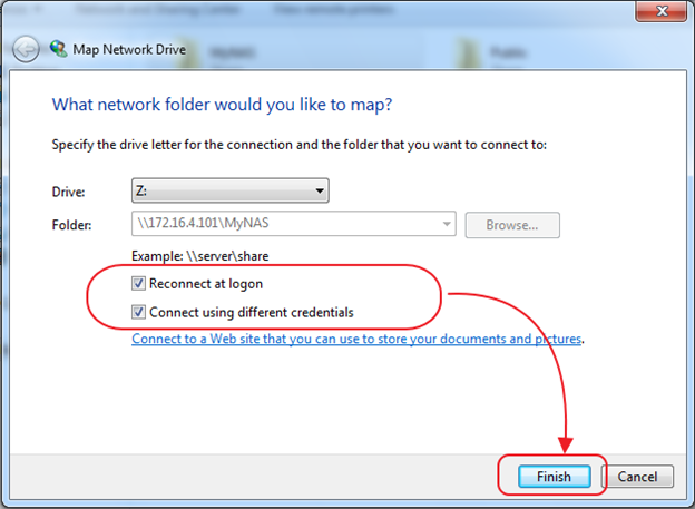 Connect using different credentials