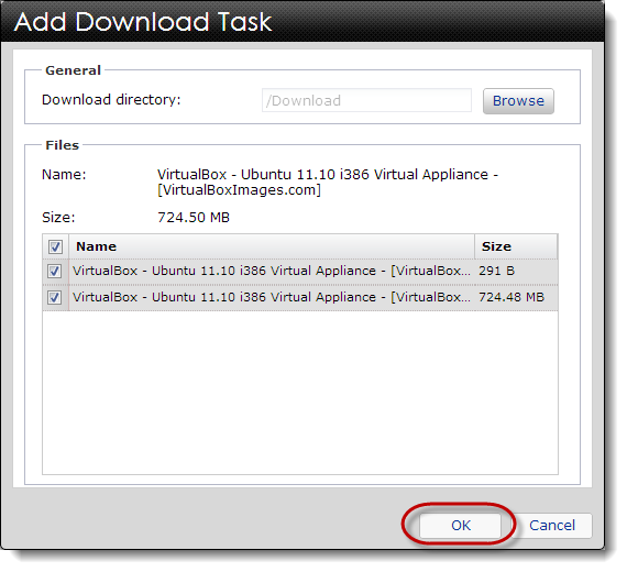 The Add Download Task
